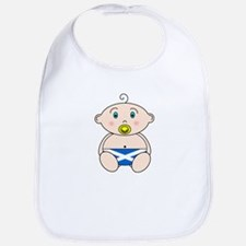 Scottish Flag Nappy design Bib