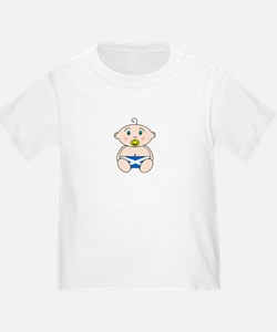 Scottish Flag Nappy design Toddler T-shirt