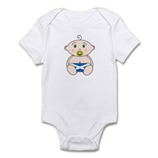 Scottish Flag Nappy design Infant Bodysuit