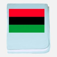 African American Flag - Red Black and baby blanket