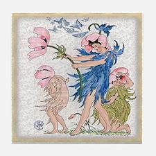 1889 Anemones Tile Coaster