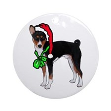 Basenji Christmas Ornament (Round)