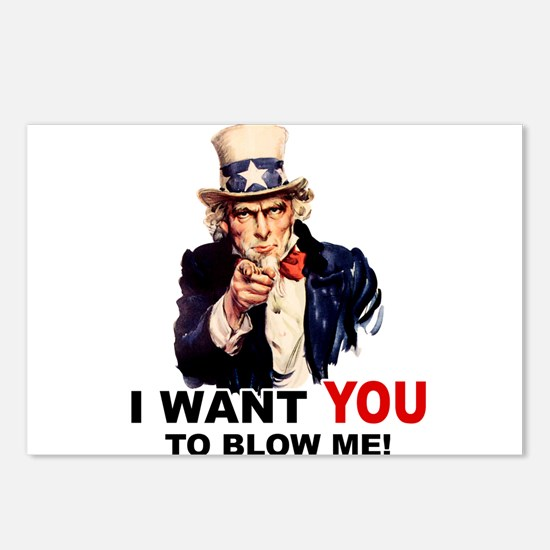 Want You To Blow Me Postcards (Package of 8)