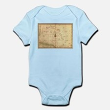 Vintage Map of The Bahamas (1650) Body Suit