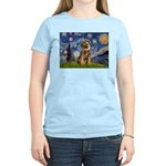 Starry Night / Border Terrier Women's Light T-Shir
