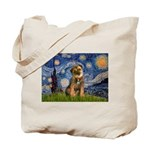 Starry Night / Border Terrier Tote Bag