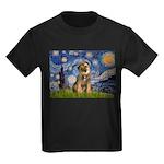 Starry Night / Border Terrier Kids Dark T-Shirt