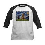 Starry Night / Border Terrier Kids Baseball Jersey