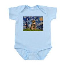Starry Night / Border Terrier Infant Bodysuit