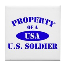 Property of a Soldier Tile Coaster