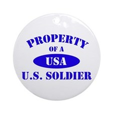 Property of a Soldier Ornament (Round)
