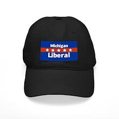 Michigan Liberal Black Baseball Cap