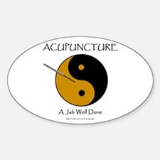 Acupuncture Oval Decal
