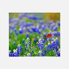 Unique Wildflowers Throw Blanket