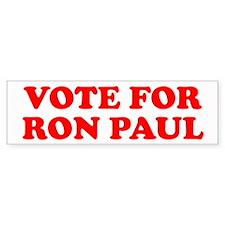 VOTE FOR RON PAUL Bumper Bumper Sticker