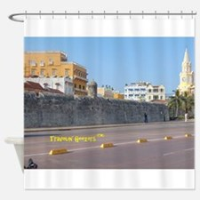 The Walled City of Cartagena Shower Curtain
