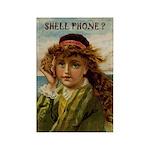 Shell Phone Girl Rectangle Magnet (10 pack)