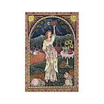 Wine Harvest Maiden Rectangle Magnet (10 pack)