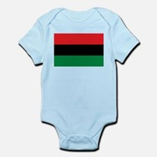 African American Flag - Red Black and Gr Body Suit