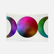 Triple Moon - Watercolor Magnets
