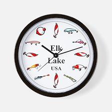 Elk Lake Clocks Wall Clock