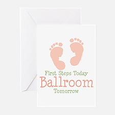 Footprints Ballroom Blank Greeting Cards 10 pk