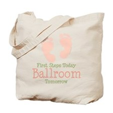 Pink Footprints Ballroom Dancing Tote Bag