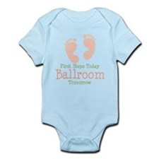 Pink Footprints Ballroom Dancing Infant Onesie