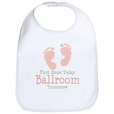 Pink Footprints Ballroom Dancing Bib