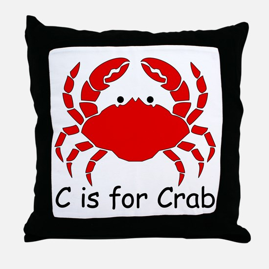 C is for Crab Throw Pillow