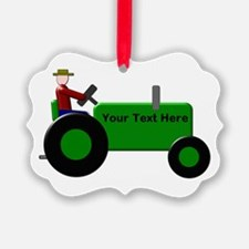 Personalized Green Tractor Ornament