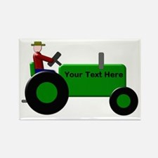 Personalized Green Tra Rectangle Magnet (100 pack)