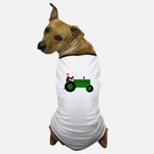 Personalized Green Tractor Dog T-Shirt