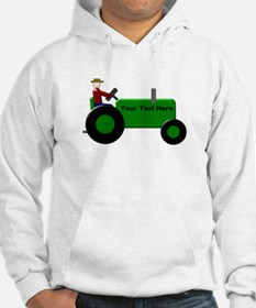 Personalized Green Tractor Hoodie