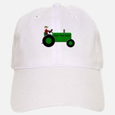 Personalized Green Tractor Baseball Baseball Cap