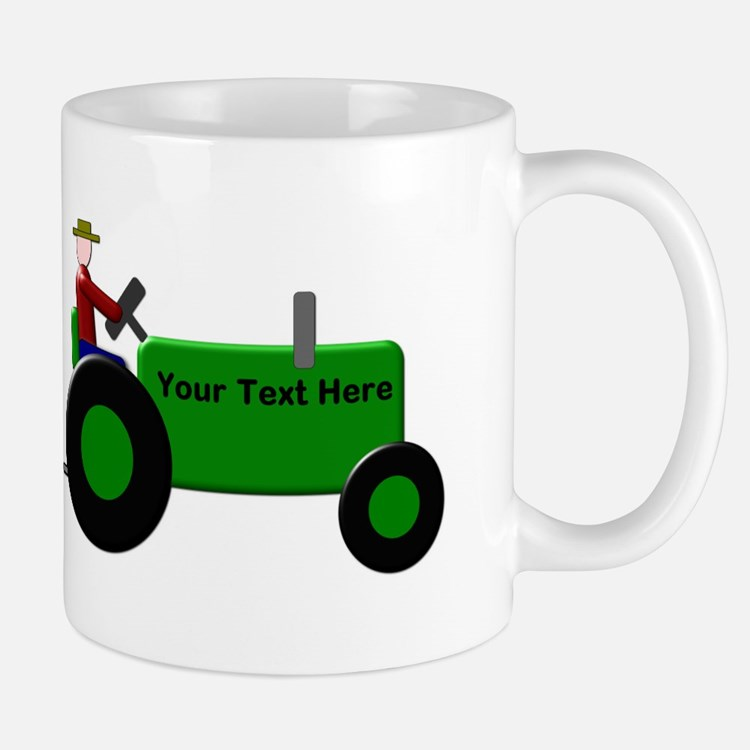 Personalized Green Tractor Mug