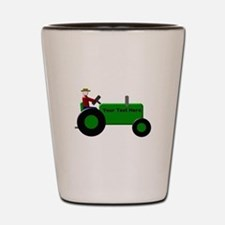 Personalized Green Tractor Shot Glass