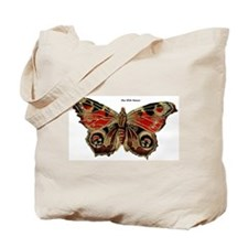 Brown Painted Butterfly Tote Bag