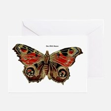 Brown Painted Butterfly Greeting Cards (Package of