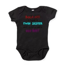 Cute Twin baby Baby Bodysuit