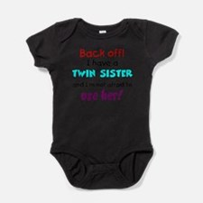 Funny Twin baby Baby Bodysuit
