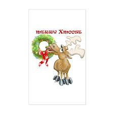 Merry Xmoose Rectangle Decal