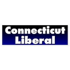 Connecticut Liberal Bumper Bumper Sticker