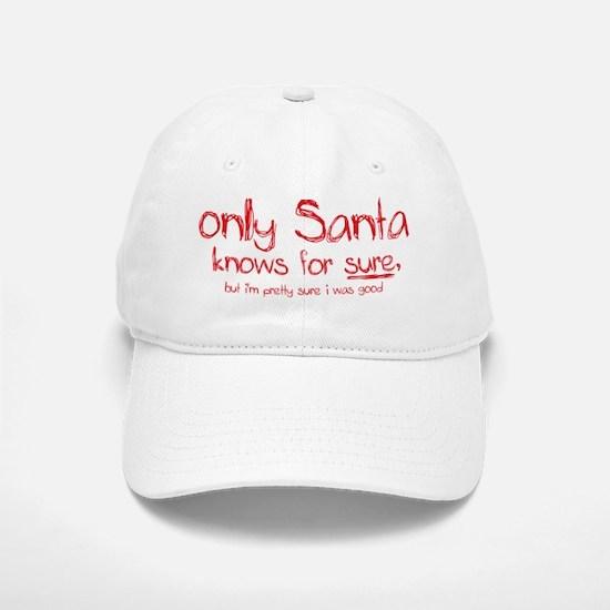 Santa Knows Baseball Baseball Cap