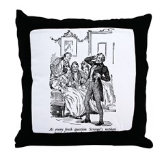 Scrooge's Nephew Throw Pillow