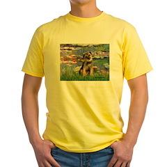 Lilies 2 / Border T Yellow T-Shirt