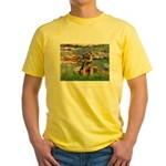Lilies 2 / Border T Yellow T-Shirt