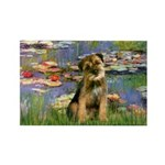 Lilies 2 / Border T Rectangle Magnet (10 pack)