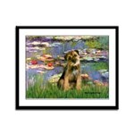 Lilies 2 / Border T Framed Panel Print