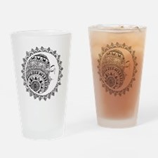 Cute Sun moon Drinking Glass